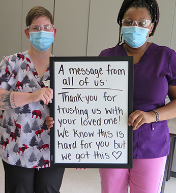 Maplewood Care Society - Hello from Quarantine